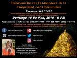 flyer ceremonia ANDREW de la prosperidad de las 13 monedas 021818